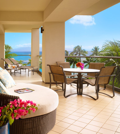 luxury in maui at montage kapalua bay spacious lanai